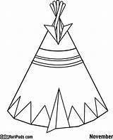 Teepee Coloring Tipi Pages Kokopelli Pee Tee Tent Printable Drawing Preschool Template Native American Indian Clipart Tipis Getdrawings Getcolorings Sc sketch template