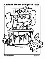 Lemonade Coloring Stand Caterina Printables Pages Drawing Sheets Printable Sheet Stands Activities Cupcake Classroom Books Template Mouth Kindergarten Preschool Themes sketch template