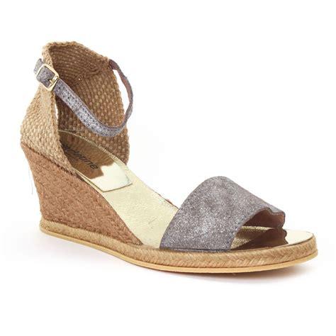 scarlatine  grey sandale compensees gris argent