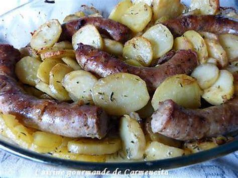 cuisiner saucisse de toulouse recette de saucisse de toulouse confite et pommes de terre fondantes