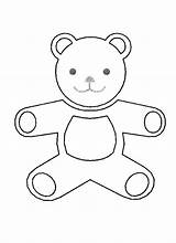 Teddy Bear Outline Coloring Pages Holidays Sheet Coloringsky sketch template