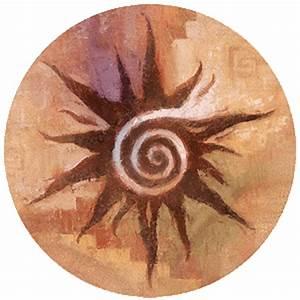 Spiral Sun Sandstone Beverage Coasters