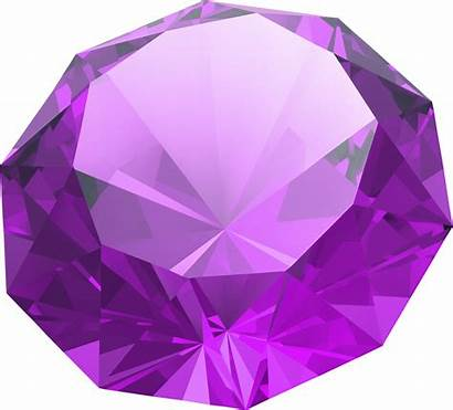 Round Diamond Clipart Transparent Brilliant Amethyst Shaped