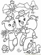 Pigs Three Coloring Printable Pages Others Cartoons sketch template