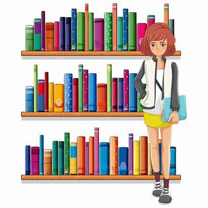 Clipart Library Shelving Librarian Transparent Clip Cartoon