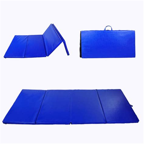 floor mats exercise soozier 4 215 8 215 2 folding gym mat 2inch thick foam floor mats exercise fitness yoga pilates blue