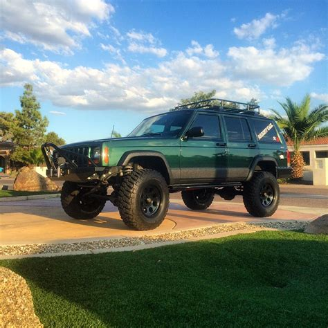 green jeep cherokee lifted cole 39 s xj cherokee the mean green off road machine