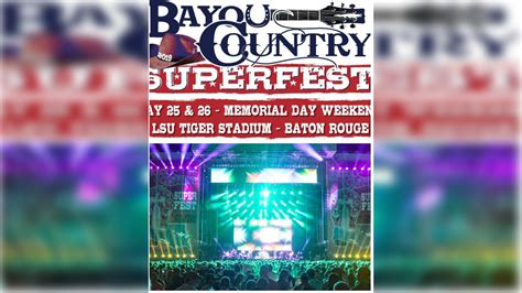 Bayou Country Superfest drew about 50,000 to Baton Rouge