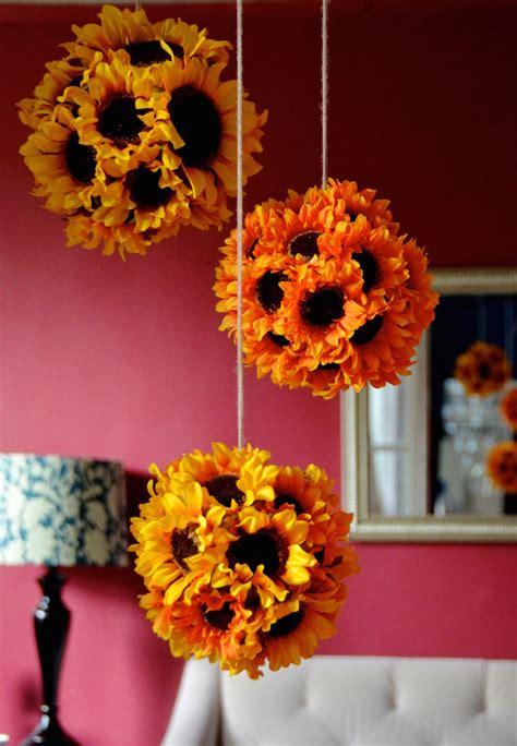 Diy Hanging Sunflower Pendants Sunflower Kissing Balls