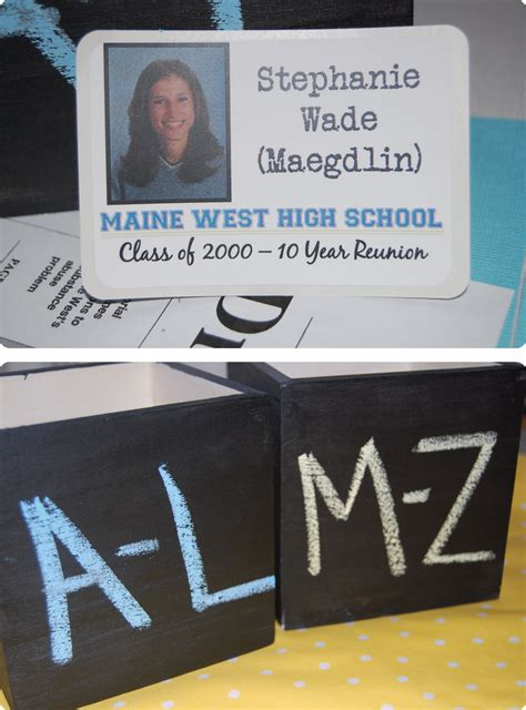 high school reunion name tags reunion decorating ideas