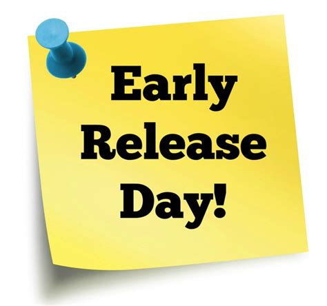 Image result for early release clip art