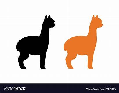 Alpaca Silhouette Clipart Vector Peruvian Orange