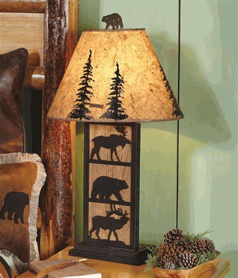 Bear, Moose & Elk Table Lamp