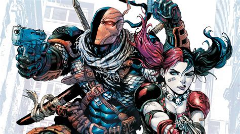harley quinn wallpaper iphone deathstroke and harley quinn dc wallpaper 7695