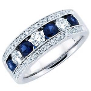 mens huggie earrings 1 50 ct blue sapphire wedding band ring