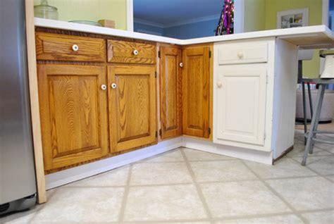 kitchen cabinet base trim adding toe kicks a window sill house 5158