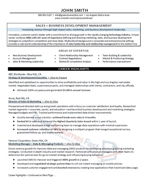 Great Resume Sles by Executive Resume Writing Service Great Resumes Fast
