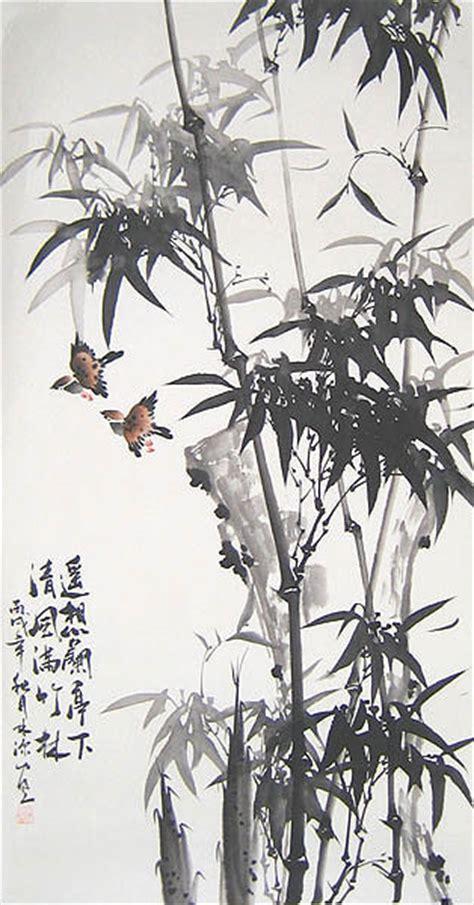 bamboo  bird chinese bamboo painting