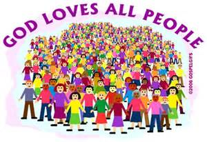 God Loves All People Clip Art
