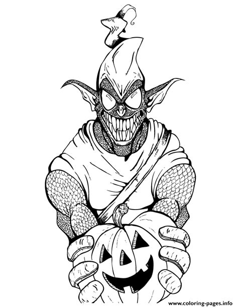 green goblin  spider man cartoon colouring page coloring pages printable