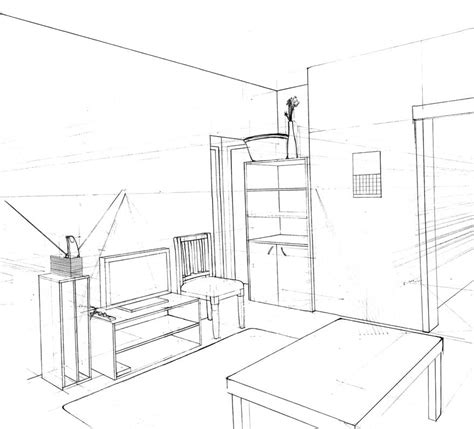 sketch a room the gallery for gt one point perspective drawing of a bedroom