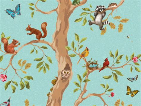Woodland Animal Wallpaper - prince wallpaper