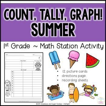 count tally graph summer  images math station