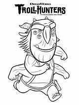 Trollhunters Coloring Blinky Blinkous sketch template