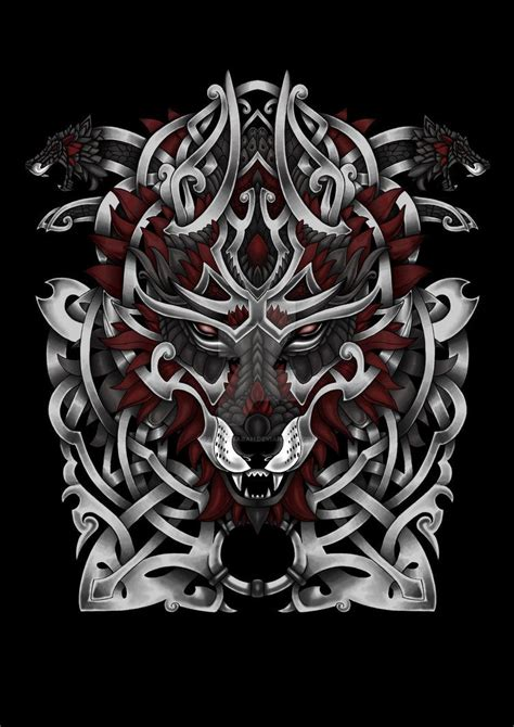 norse wolf tattoo  fallingsarah stencil tatuagem