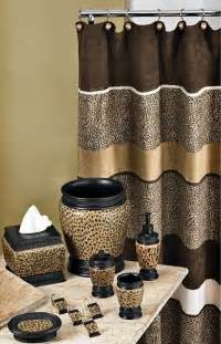 cheetah bathroom set curtain etc home interiors