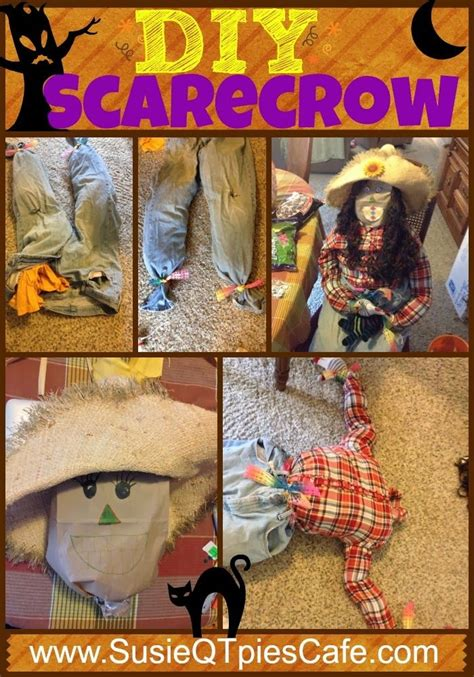 Diy Scarecrow Tutorial  So Easy To Make! #halloween #fall  Scarecrow  Pinterest Crafts