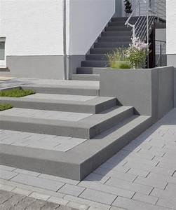 Treppenstufen Außen Beton : eingangsbereich au entreppe rinn betonsteine und natursteine aussentreppe natursteine ~ A.2002-acura-tl-radio.info Haus und Dekorationen
