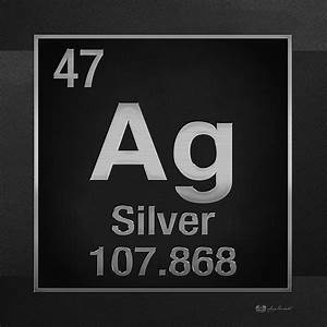 Periodic Table Of Elements - Silver - Ag - Silver On Black ...