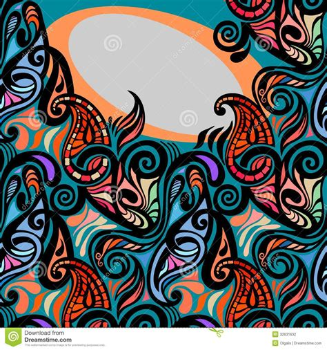 colorful abstract seamless paisley pattern stock