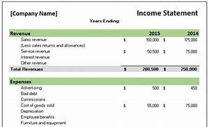 Small Business Income Statement Template Income Statement Template Word Excel Formats