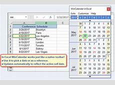 Free Excel pop up calendar and Excel date picker