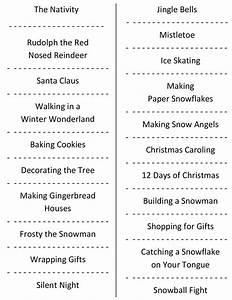Christmas Charades (free printable party game)