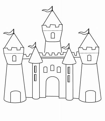 Chateau Coloriage Dessin Castle