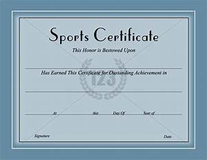 award them with best sports certificates template for best With sport certificate templates for word