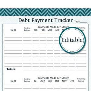Balance Sheet Template Debt Payment Tracker Fillable Instant Finance