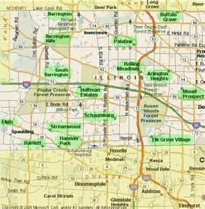 Cook County Illinois Map Cities