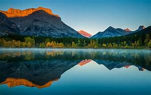Nature, Landscape, Reflection, Lake, Fall, Forest, Mist