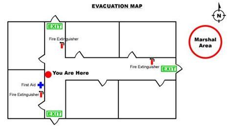 sample evacuation map  images evacuation plan