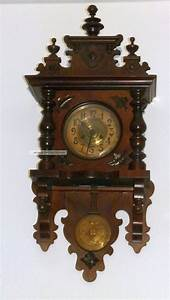 Wanduhren Mit Pendel Antik : gr nderzeit wanduhr antik holz pendeluhr regulator uhr ca ~ Watch28wear.com Haus und Dekorationen