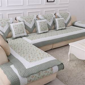 cotton blanket on the couch floral cover sofa cushion With sectional sofa cover pad