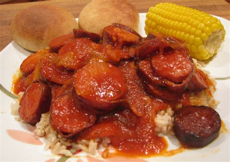 le cuisine louisiana spicy gravy and sausage