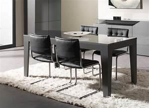 Table Cuisine Grise : table grise salle a manger cuisine naturelle ~ Teatrodelosmanantiales.com Idées de Décoration