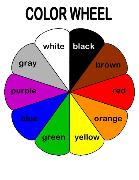 the color wheel helps preschoolers associate basic colors