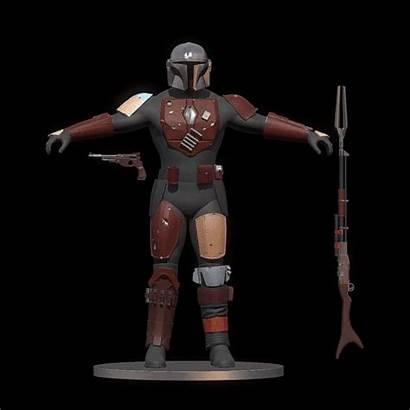 Mandalorian Armor Stl Cosplay Artstation Template Helmet