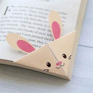 book marker template - diy woodland animals origami bookmarks print fold it